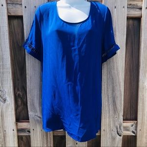 ❤️Royal Blue Pleione Short Sleeve Top Size X-Large